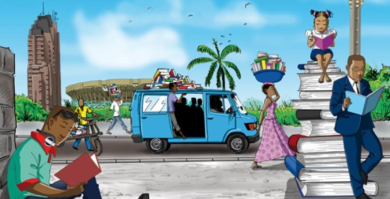 L'affiche de 2e Fête du livre de Kinshasa