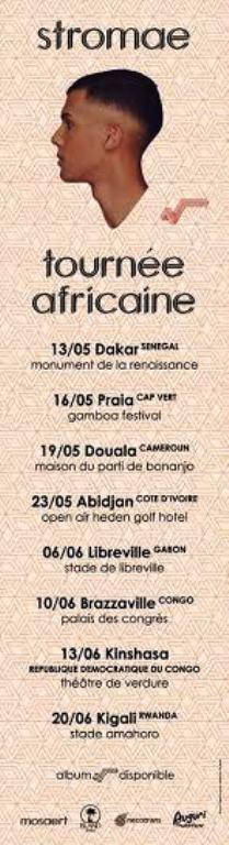 Les huit dates de la tournée africaine de Stromae
