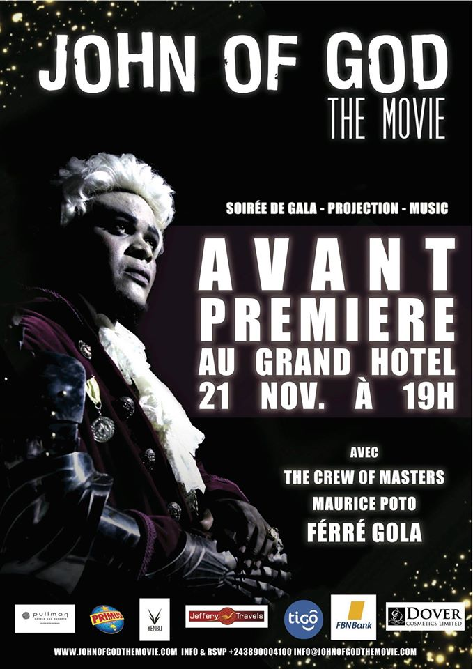 L'affiche de l'avant-première kinoise de John of God the Movie
