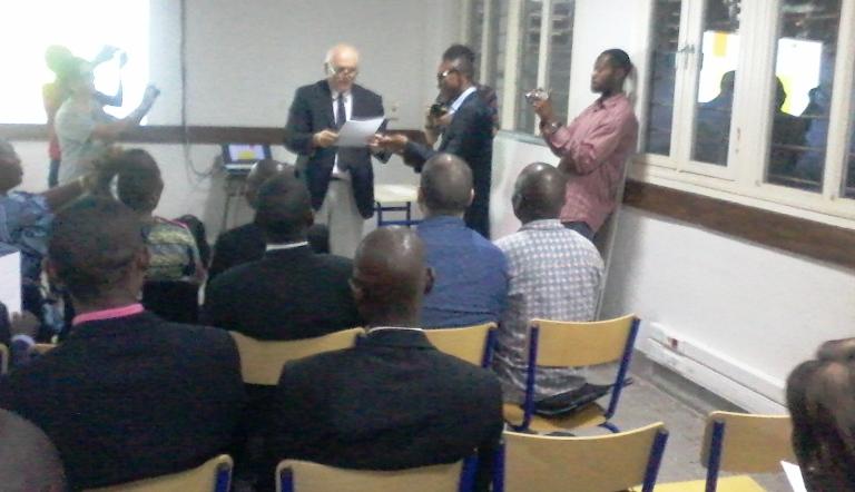 La remise des brevets aux enseignants congolais formés