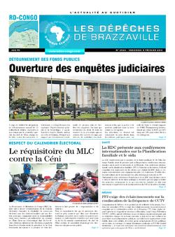 Les Dépêches de Brazzaville : Édition kinshasa du 05 février 2016