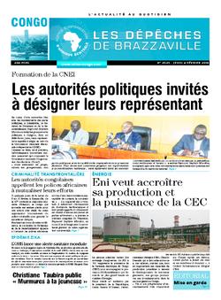 Les Dépêches de Brazzaville : Édition brazzaville du 07 février 2016