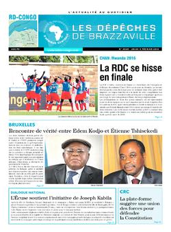Les Dépêches de Brazzaville : Édition kinshasa du 07 février 2016