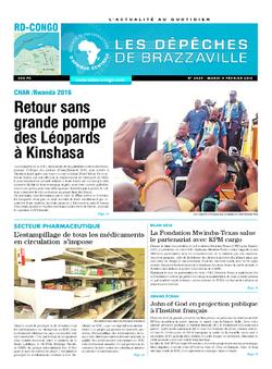 Les Dépêches de Brazzaville : Édition kinshasa du 09 février 2016