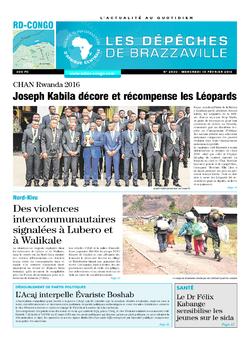 Les Dépêches de Brazzaville : Édition kinshasa du 10 février 2016