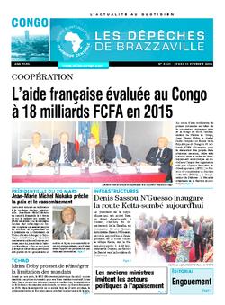Les Dépêches de Brazzaville : Édition brazzaville du 11 février 2016