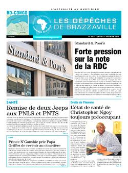 Les Dépêches de Brazzaville : Édition kinshasa du 11 février 2016