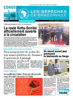 Les Dépêches de Brazzaville : Édition brazzaville du 12 février 2016