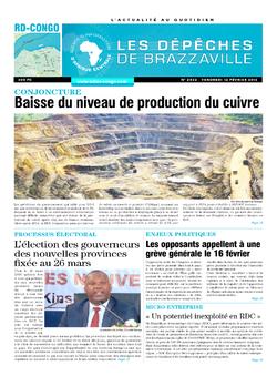 Les Dépêches de Brazzaville : Édition kinshasa du 12 février 2016