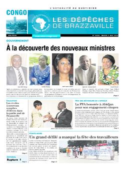 Les Dépêches de Brazzaville : Édition brazzaville du 03 mai 2016