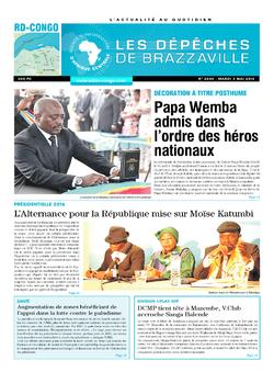 Les Dépêches de Brazzaville : Édition kinshasa du 03 mai 2016