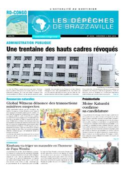 Les Dépêches de Brazzaville : Édition kinshasa du 06 mai 2016