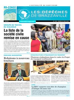 Les Dépêches de Brazzaville : Édition kinshasa du 24 mai 2016