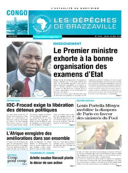 Les Dépêches de Brazzaville : Édition brazzaville du 26 mai 2016