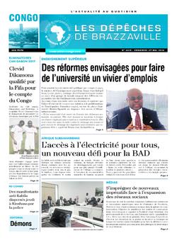 Les Dépêches de Brazzaville : Édition brazzaville du 27 mai 2016