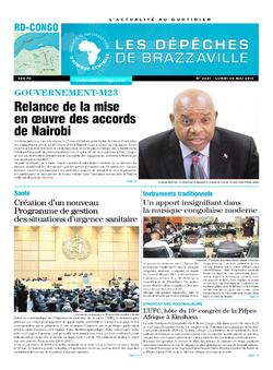 Les Dépêches de Brazzaville : Édition kinshasa du 30 mai 2016