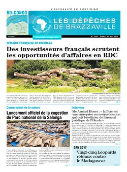 Les Dépêches de Brazzaville : Édition kinshasa du 31 mai 2016