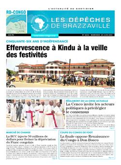 Les Dépêches de Brazzaville : Édition kinshasa du 29 juin 2016