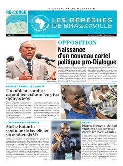 Les Dépêches de Brazzaville : Édition kinshasa du 30 juin 2016