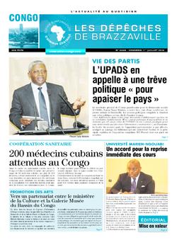 Les Dépêches de Brazzaville : Édition brazzaville du 01 juillet 2016