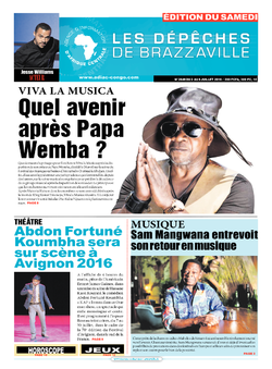 Les Dépêches de Brazzaville : Édition du 6e jour du 02 juillet 2016