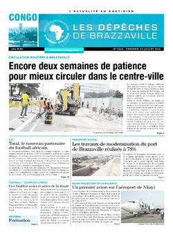 Les Dépêches de Brazzaville : Édition brazzaville du 22 juillet 2016