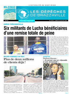 Les Dépêches de Brazzaville : Édition kinshasa du 25 juillet 2016