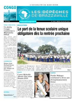 Les Dépêches de Brazzaville : Édition brazzaville du 26 juillet 2016