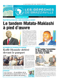 Les Dépêches de Brazzaville : Édition kinshasa du 27 juillet 2016