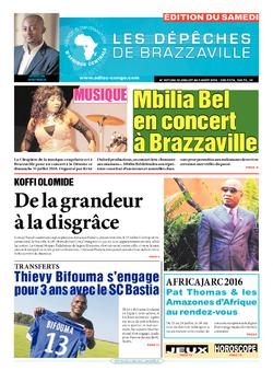 Les Dépêches de Brazzaville : Édition du 6e jour du 30 juillet 2016