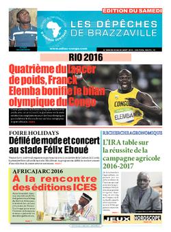 Les Dépêches de Brazzaville : Édition du 6e jour du 20 août 2016