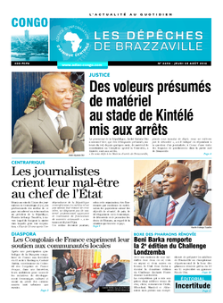 Les Dépêches de Brazzaville : Édition brazzaville du 25 août 2016