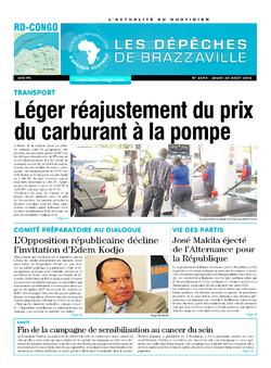 Les Dépêches de Brazzaville : Édition kinshasa du 25 août 2016