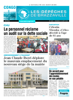 Les Dépêches de Brazzaville : Édition brazzaville du 26 août 2016