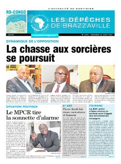 Les Dépêches de Brazzaville : Édition kinshasa du 26 août 2016