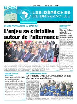 Les Dépêches de Brazzaville : Édition kinshasa du 29 août 2016