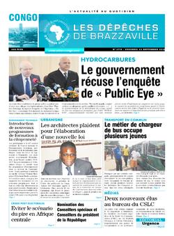 Les Dépêches de Brazzaville : Édition brazzaville du 23 septembre 2016