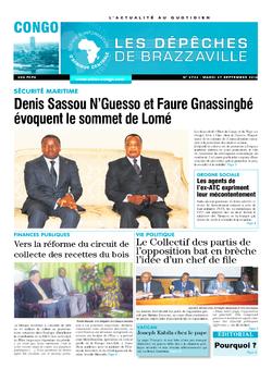 Les Dépêches de Brazzaville : Édition brazzaville du 27 septembre 2016