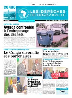 Les Dépêches de Brazzaville : Édition brazzaville du 28 septembre 2016