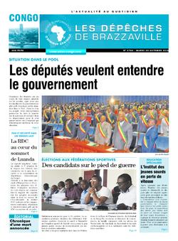 Les Dépêches de Brazzaville : Édition brazzaville du 25 octobre 2016
