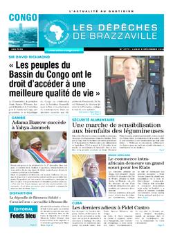 Les Dépêches de Brazzaville : Édition brazzaville du 05 décembre 2016