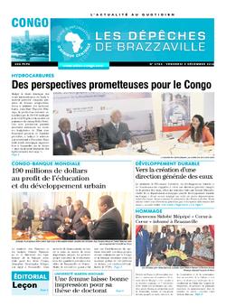 Les Dépêches de Brazzaville : Édition brazzaville du 09 décembre 2016