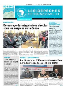 Les Dépêches de Brazzaville : Édition kinshasa du 09 décembre 2016