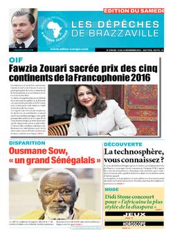Les Dépêches de Brazzaville : Édition du 6e jour du 10 décembre 2016