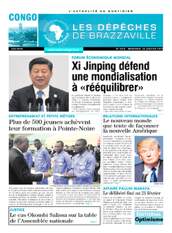 Les Dépêches de Brazzaville : Édition brazzaville du 18 janvier 2017