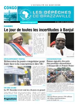 Les Dépêches de Brazzaville : Édition brazzaville du 19 janvier 2017