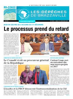 Les Dépêches de Brazzaville : Édition kinshasa du 19 janvier 2017