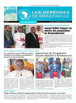 Les Dépêches de Brazzaville : Édition kinshasa du 22 février 2017