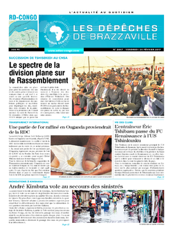 Les Dépêches de Brazzaville : Édition kinshasa du 24 février 2017