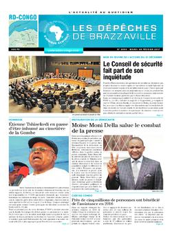 Les Dépêches de Brazzaville : Édition kinshasa du 28 février 2017